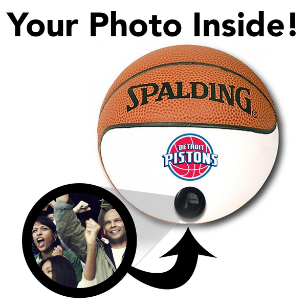 Pistons NBA Collectible Miniature Basketball - Picture Inside - FANZ Collectibles