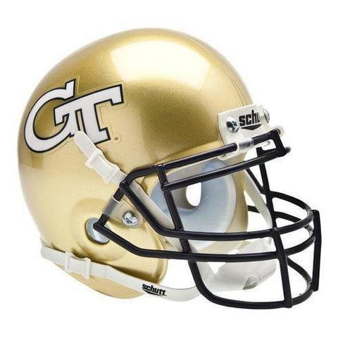 Georgia Tech Yellow Jackets College Football Collectible Schutt Mini Helmet - Picture Inside - FANZ Collectibles