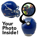 Phi Beta Sigma Miniature Football Helmet - Picture Inside - FANZ Collectibles