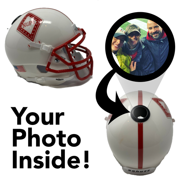 Kappa Alpha Psi Miniature Football Helmet - Picture Inside - FANZ Collectibles