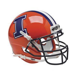Illinois Fighting Illini College Football Collectible Schutt Mini Helmet - Picture Inside - FANZ Collectibles