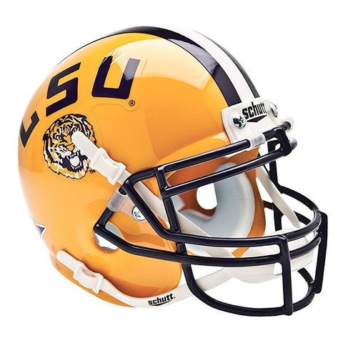 LSU Tigers College Football Collectible Schutt Mini Helmet - Picture Inside - FANZ Collectibles