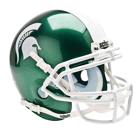Michigan State Spartans College Football Collectible Schutt Mini Helmet - Picture Inside