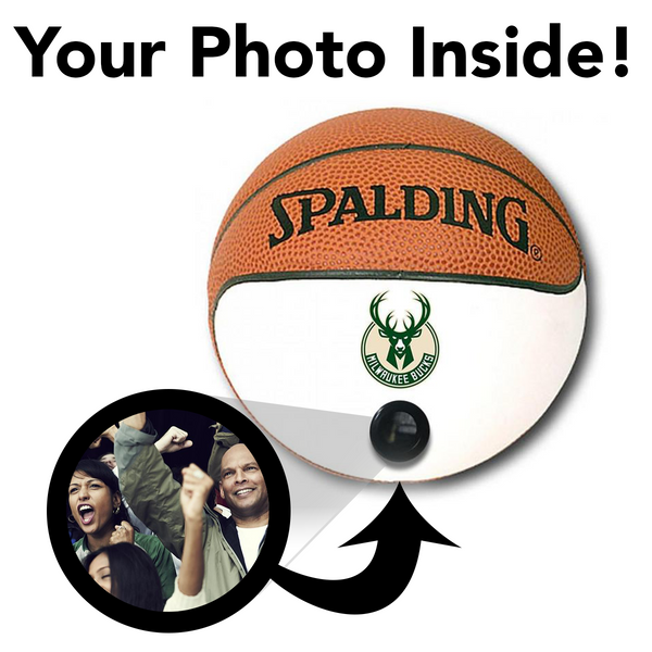Bucks NBA Collectible Miniature Basketball - Picture Inside - FANZ Collectibles