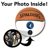 Timberwolves NBA Collectible Miniature Basketball - Picture Inside - FANZ Collectibles
