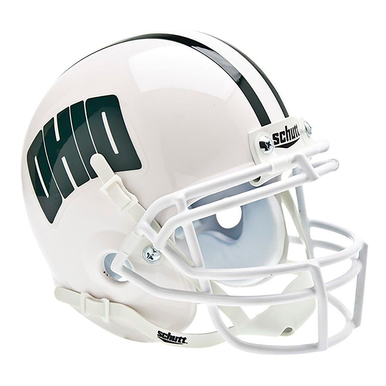 Ohio Bobcats College Football Collectible Schutt Mini Helmet - Picture Inside - FANZ Collectibles - Fanz Collectibles