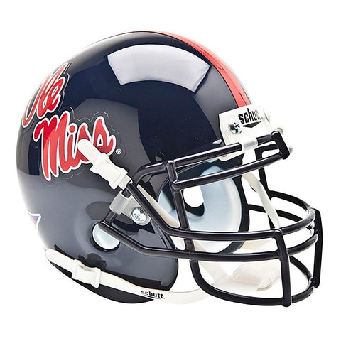 Ole Miss Rebels College Football Collectible Schutt Mini Helmet - Picture Inside - FANZ Collectibles