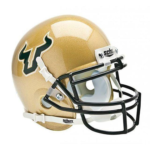 South Florida Bulls College Football Collectible Schutt Mini Helmet - Picture Inside - FANZ Collectibles