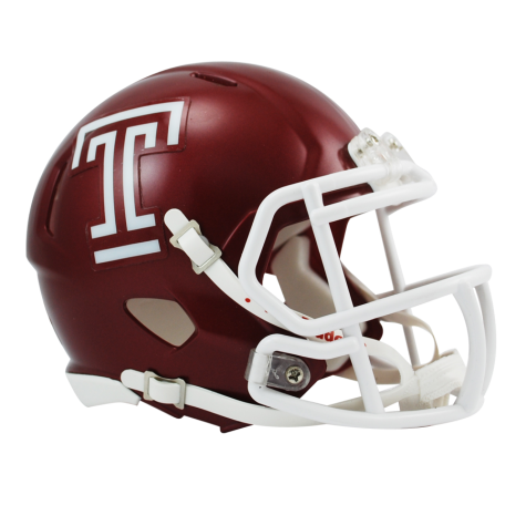 Temple Owls College Football Collectible Schutt Mini Helmet - Picture Inside - FANZ Collectibles