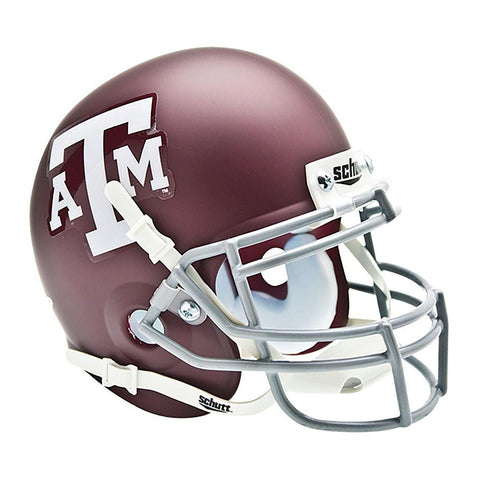 Texas A&M Aggies College Football Collectible Schutt Mini Helmet - Picture Inside - FANZ Collectibles