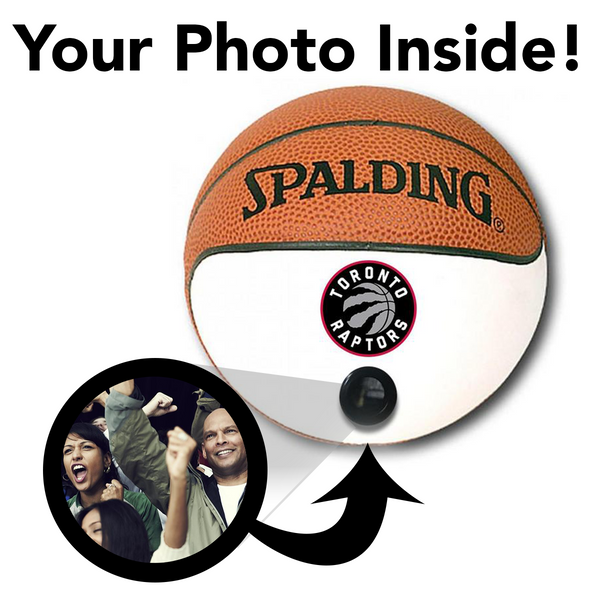 Raptors NBA Collectible Miniature Basketball - Picture Inside - FANZ Collectibles