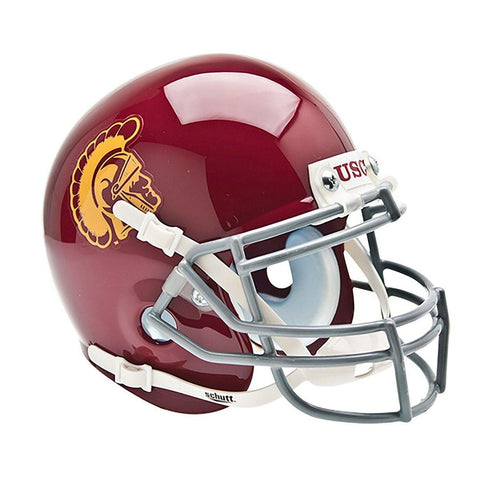USC Trojans College Football Collectible Schutt Mini Helmet - Picture Inside - FANZ Collectibles