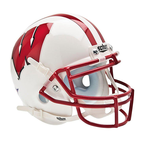 Wisconsin Badgers College Football Collectible Schutt Mini Helmet - Picture Inside