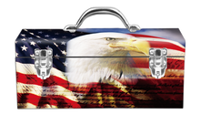 Load image into Gallery viewer, American Flag Eagle Portrat Steel Box