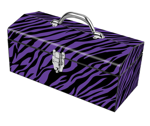 Purple Zebra Deco Box