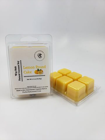 Lemon Pound Cake Wax Melt - Perfectly Scented Bath and Body