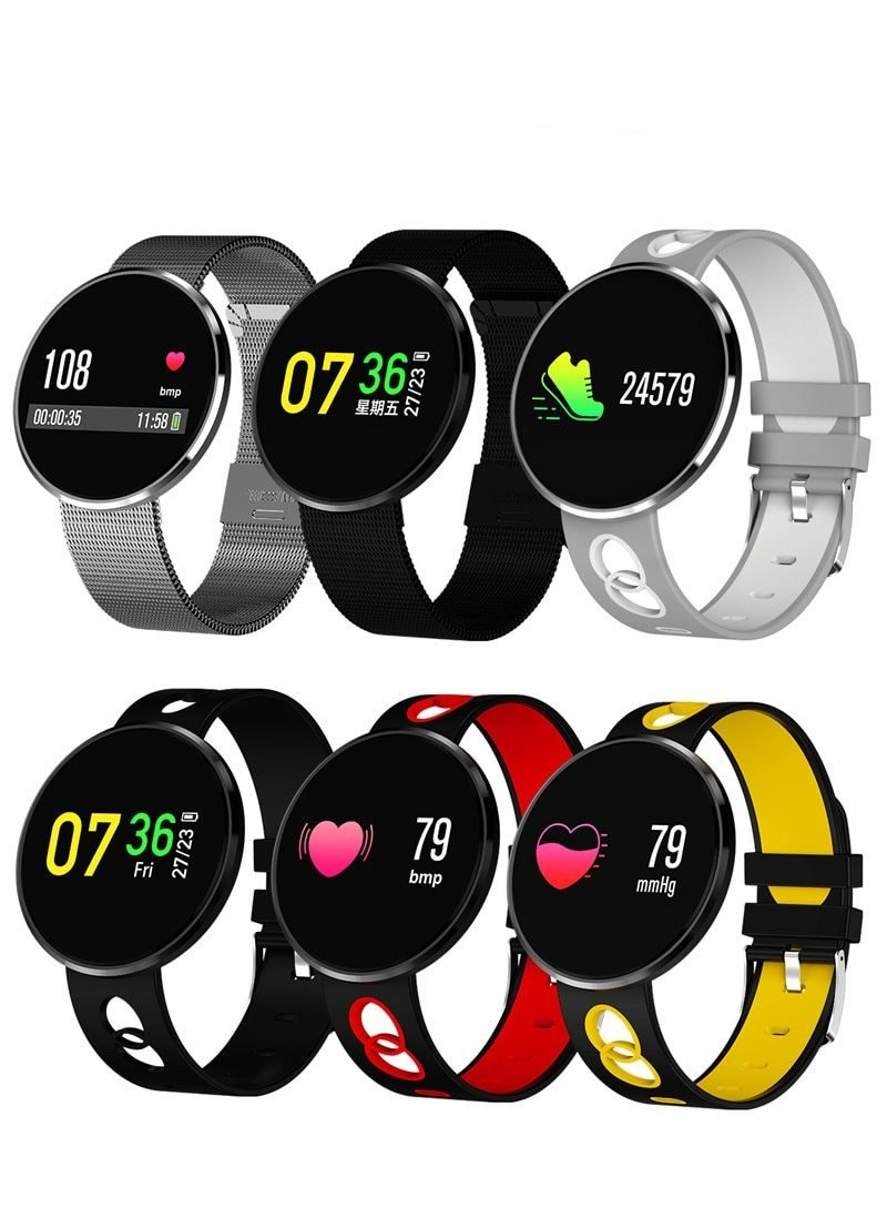 Smartwatch Montre Intelligente  Connectée, Bracelet Connecté Podometre Smartwatch Cardiofréquencemètre Etanche