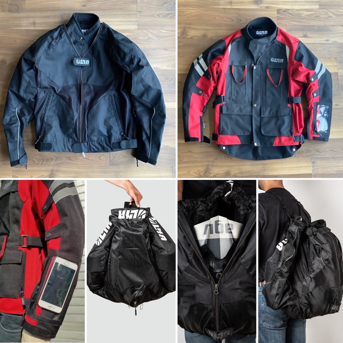 Motorcycle Riding Jacket - Ulka gear Hakkit - Convertible to backpack