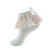 jrp socks coral white flower lace ruffle anklet with bow