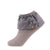 jrp socks gray dreamy ruffle lace anklet sock
