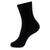 BLACK FINE RIB MIDCALF SOCK