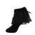 jrp sock girls black floral lace ruffle anklet sock