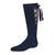 jrp socks navy lace up girls knee high sock