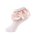 jrp socks blush leatherette ruffle lace anklet sock