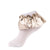 jrp socks gold leatherette ruffle lace anklet socks