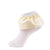 jrp socks yellow leatherette ruffle lace anklet socks