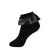 jrp socks black metallic lace anklet ruffle sock