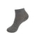 MEDIUM GRAY SPORT RIB RIBBED SHORT CREW SOCK JRP SOCKS