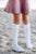 jrp socks white star knee high sock