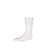 Ribbed Midcalf Sock White