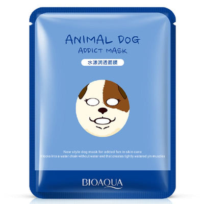 Cute Animal Face Masks - Nourish Sheep/ Tender Panda/ Addict Dog/ Supple Tiger