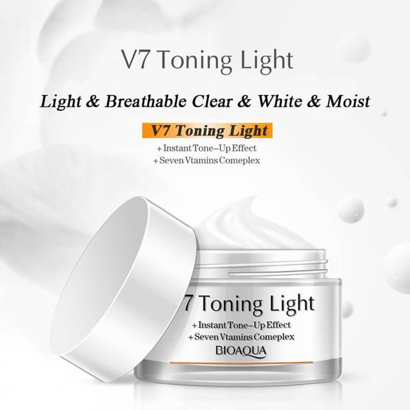 V7 Toning Light Deep Hydration Cream - Vitamins & Instant Tone-up Effect - BIOAQUA? OFFICIAL STORE