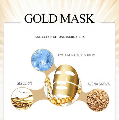 High Quality Gold Above Beauty Mask - Tired Skin Soothing Hydrating & Moisturizing - BIOAQUA? OFFICIAL STORE