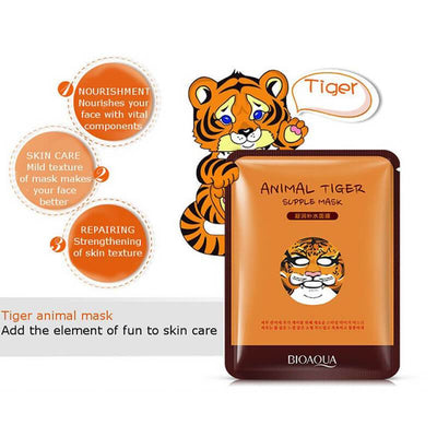 Cute Animal Face Masks - Nourish Sheep/ Tender Panda/ Addict Dog/ Supple Tiger - BIOAQUA? OFFICIAL STORE