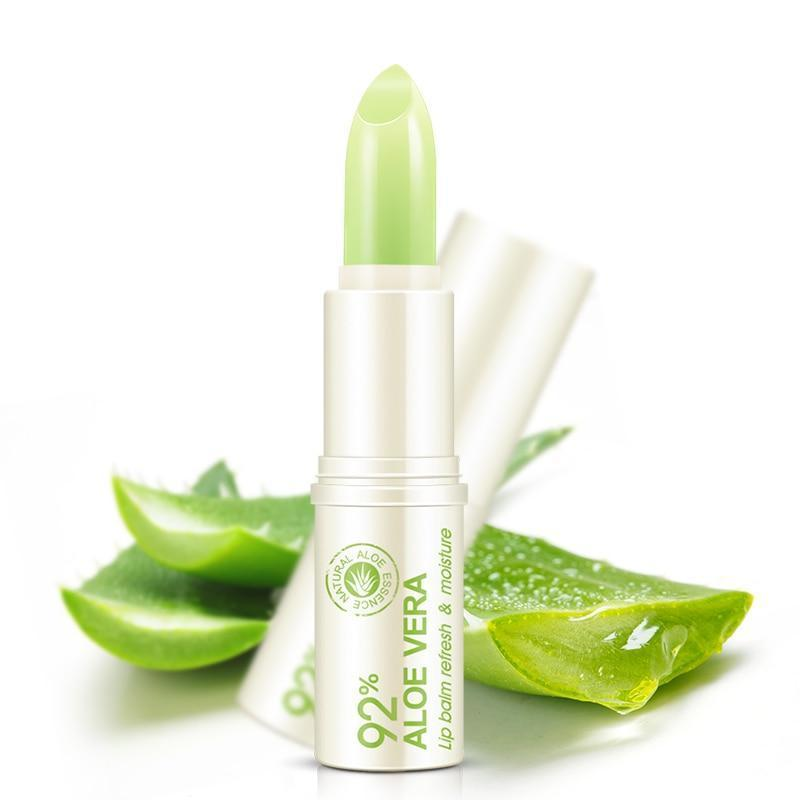 92% Natural Aloe Vera Gel Lip Balm - Moisturizing & Repair Lip Wrinkles Lipsticks