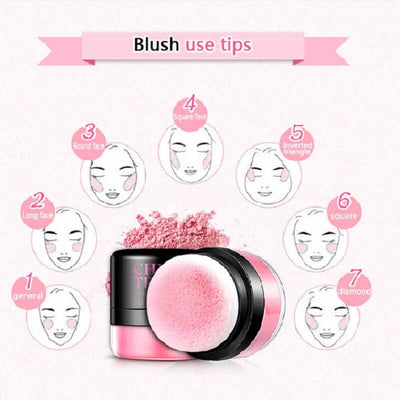 Chic Trendy Soft Rose Blush Powder - BIOAQUA? OFFICIAL STORE