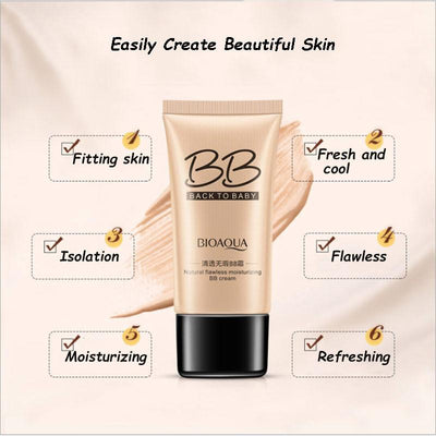 Natural Flawless Moisturizing BB Cream - Back to Baby - BIOAQUA? OFFICIAL STORE