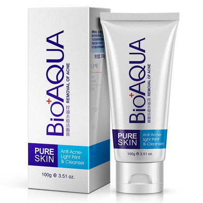 PURE SKIN Anti Acne Light Print Cleanser Removal Of Acne - BIOAQUA? OFFICIAL STORE