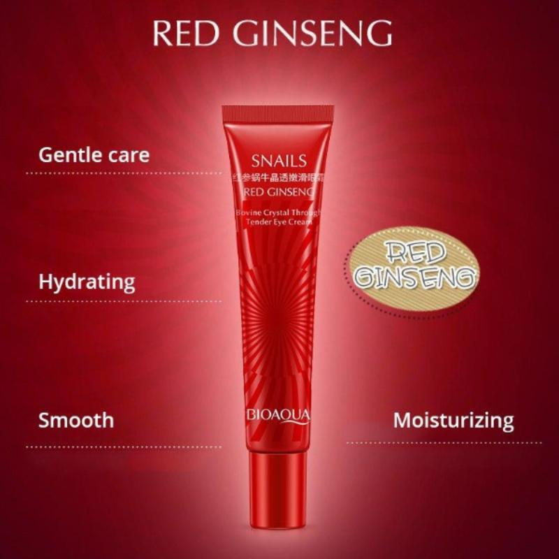 Natural Red Ginseng Snail Essence Eye Cream - BIOAQUA? OFFICIAL STORE