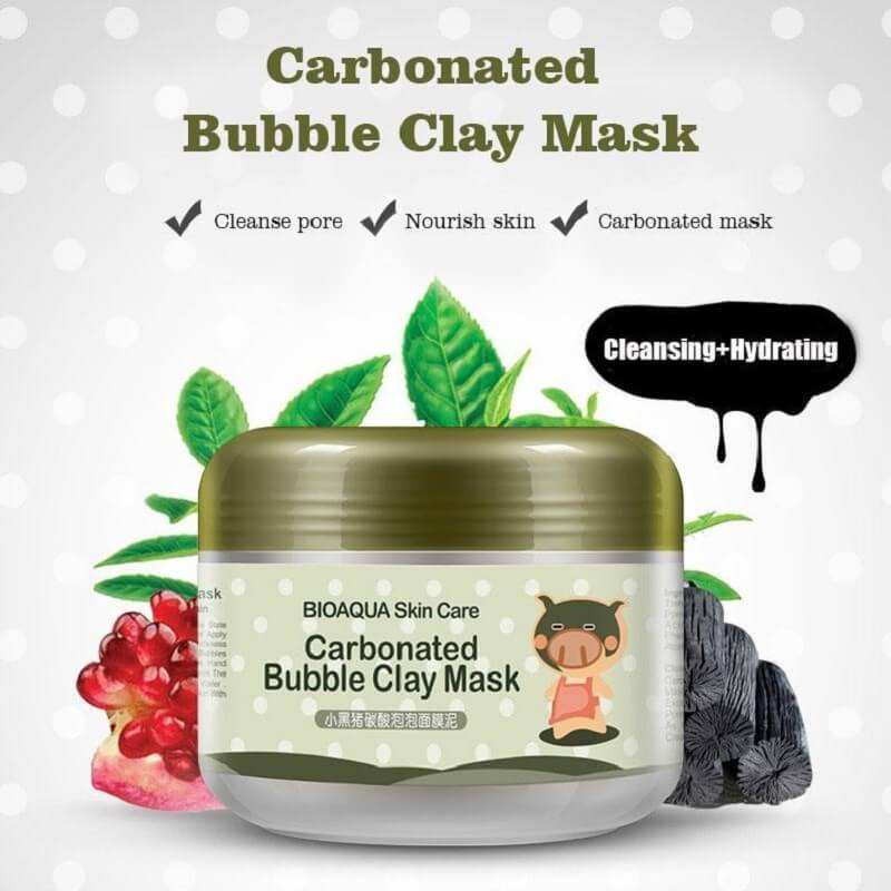 Carbonated Bubble Clay Mask - Make Skin Young & Energetic Again - BIOAQUA? OFFICIAL STORE