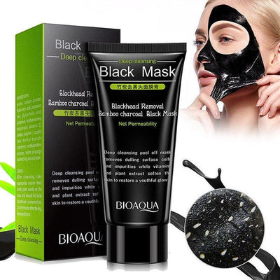 Activated Blackhead On Nose Removal Bamboo Charcoal Black Face Mask - Deep Cleansing & Blackhead Removal - BIOAQUA? OFFICIAL STORE