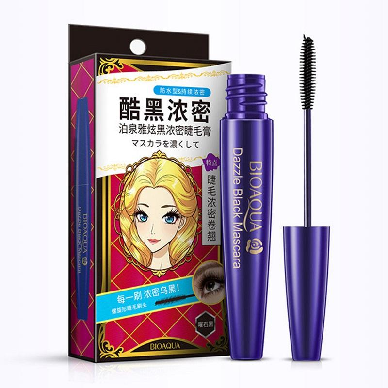 Waterproof Lashes Long Fiber Mascara - Lengthening Eyelashes & Dazzle Black Mascara - BIOAQUA? OFFICIAL STORE