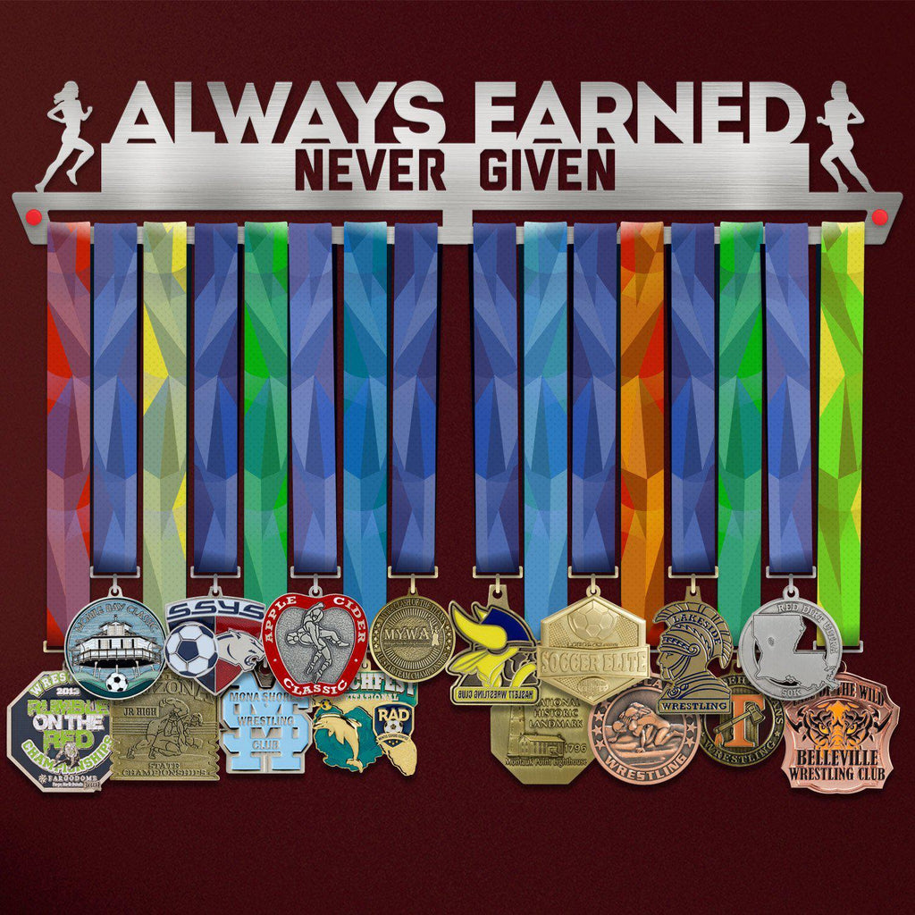 Suport Medalii Always Earned Never Given FEMININ-Victory Hangers®
