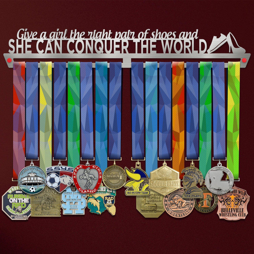 Suport Medalii Give a Girl The Right Shoes, And She Can Conquer The World-Victory Hangers®