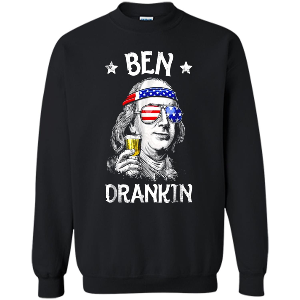 3d2412102602f 4th of July Shirts for Men Ben Drankin Benjamin Franklin – Cute Horse