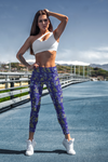 Blue Flower Leggings - The Hummingbird Effect